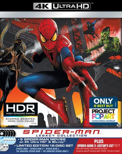 Spider-Man Legacy Collection [4K Ultra HD Blu-ray/Blu-ray] [SteelBook] [Only @ Best Buy] 6036306