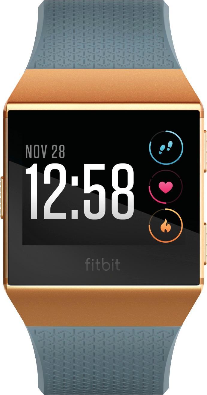 Fitbit - Ionic Smartwatch - Burnt orange/slate blue