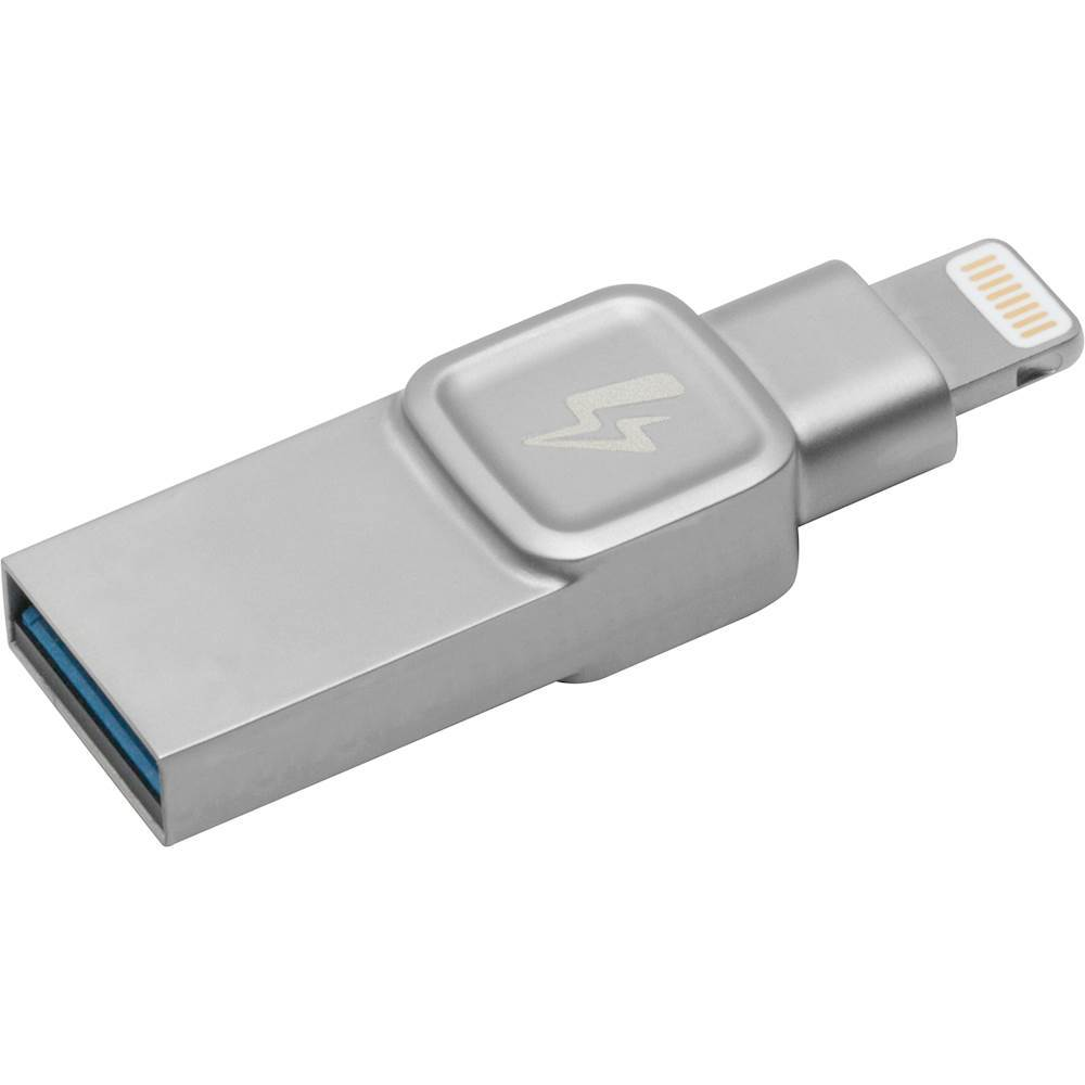 Kingston DataTraveler Bolt Duo 128GB USB 3.1, Apple Lightning Flash Drive Silver C-USB3L-SR128-EN