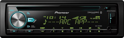 Pioneer - In-Dash CD Receiver - Built-in Bluetooth - Satellite Radio-Ready with Detachable Faceplate - Black