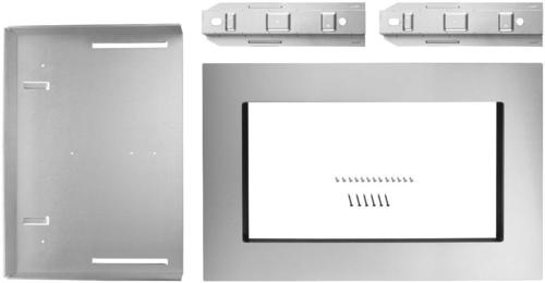 Whirlpool - 26.9  Trim Kit - Stainless steel Compatible with select microwaves; stainless steel finish; built-in appearance