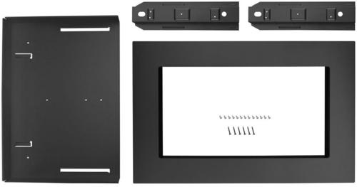 Whirlpool - 26.9  Trim Kit - Black stainless steel Compatible with select microwaves; black stainless steel finish; built-in appearance