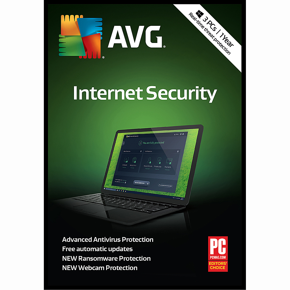 AVG Internet Security (3-Devices) (1-Year Subscription) Windows GRI070800G332