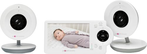 Project Nursery - Video Baby Monitor with (2) Cameras and 4.3u0022 Screen - White