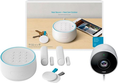 Nest - Secure Alarm System with Nest Cam Outdoor - White
