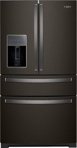 Whirlpool 26 cu. ft. French Door Refrigerator in Fingerprint Resistant Black Stainless