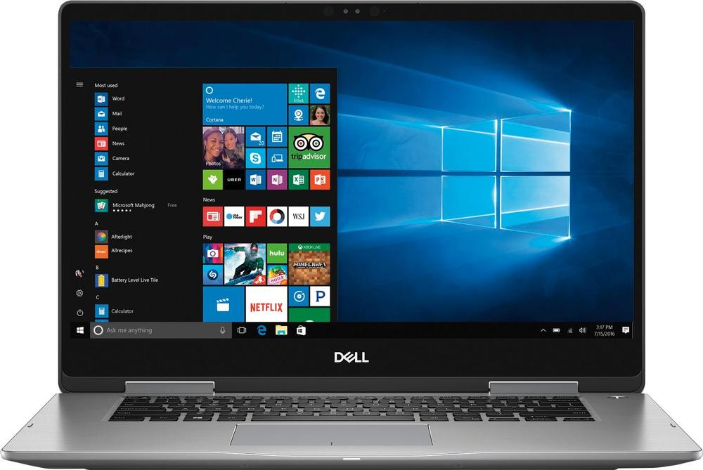 """Dell Inspiron 2-in-1 15.6"""" Touch-Screen Laptop Intel Core i5 8GB Memory 2TB Hard Drive Era Gray I7573-5104GRY-PUS"""