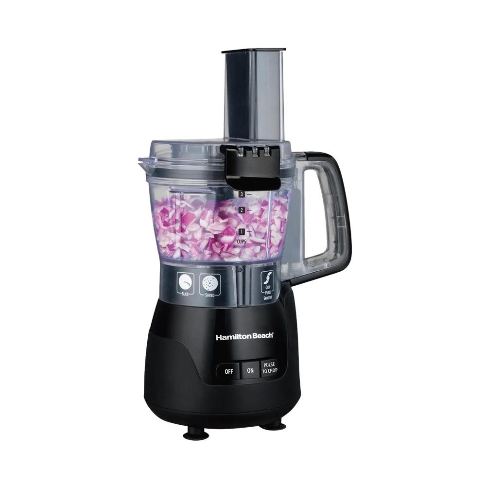 Hamilton Beach - Stack & Snap 4-Cup Food Processor - Black/transparent 6084532