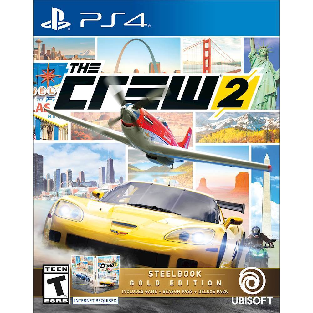 Ubisoft UBP30522118 The Crew Steelbook Gold Edition PlayStation 4