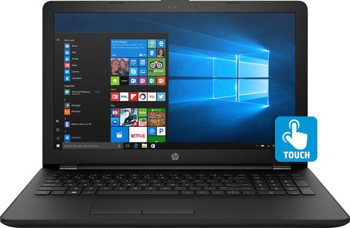 "HP - 15.6"" Touch-Screen Laptop - Intel Core i3 - 8GB Memory - 1TB Hard Drive - Jet black, woven texture pattern"