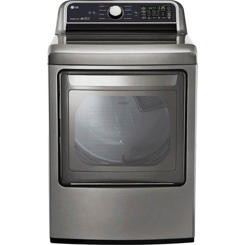 LG - 7.3 Cu. Ft. 9-Cycle Electric Dryer - Graphite Steel