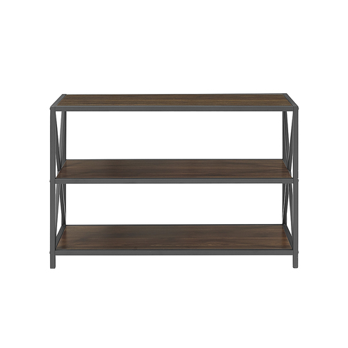 Walker Edison - 3-Shelf Bookcase - Dark Walnut