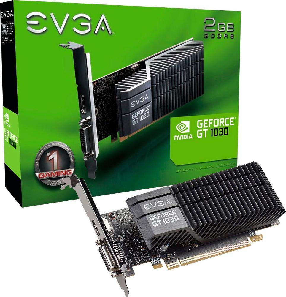 EVGA NVIDIA GeForce GT 1030 SC 2GB GDDR5 PCI Express 3.0 Graphics Card Black 02G-P4-6332-KR