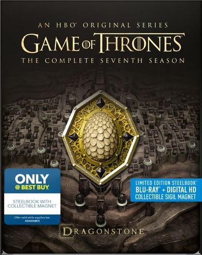 Game of Thrones: Season Seven [Dragonstone Cream] [SteelBook] [Blu-ray] [Only @ Best Buy] 6092697