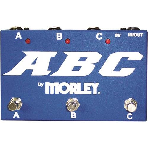 Morley - ABC Selector/Combiner Switch for Electric Guitars - Blue 6098754