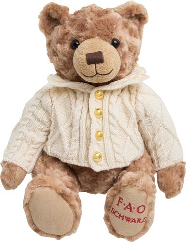 "FAO Schwarz - 12"" Anniversary Bear Plush Toy - Brown"