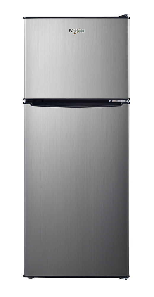 Whirlpool WH46TS1EC 4.6 Cu. Ft. Mini Fridge Stainless Steel Look ...