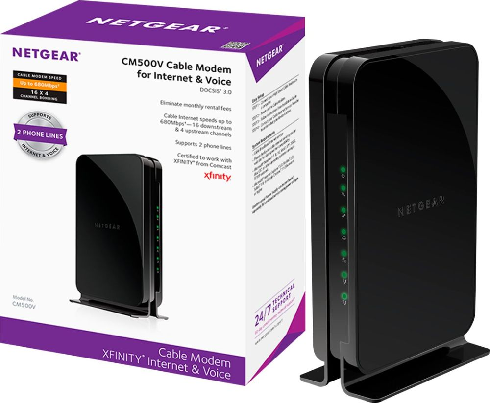 NETGEAR CM500V - cable modem (27J62) | Direct Supply