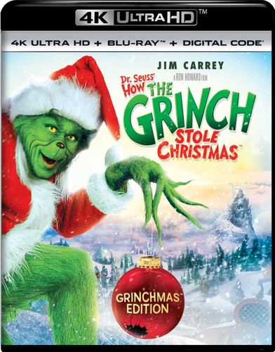 Dr. Seuss' How the Grinch Stole Christmas [4K Ultra HD Blu-ray] [2000] 6111342