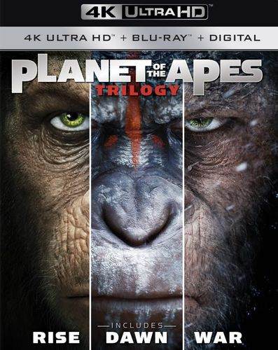Planet of the Apes Trilogy [Includes Digital Copy] [4K Ultra HD Blu-ray/Blu-ray] 6111540