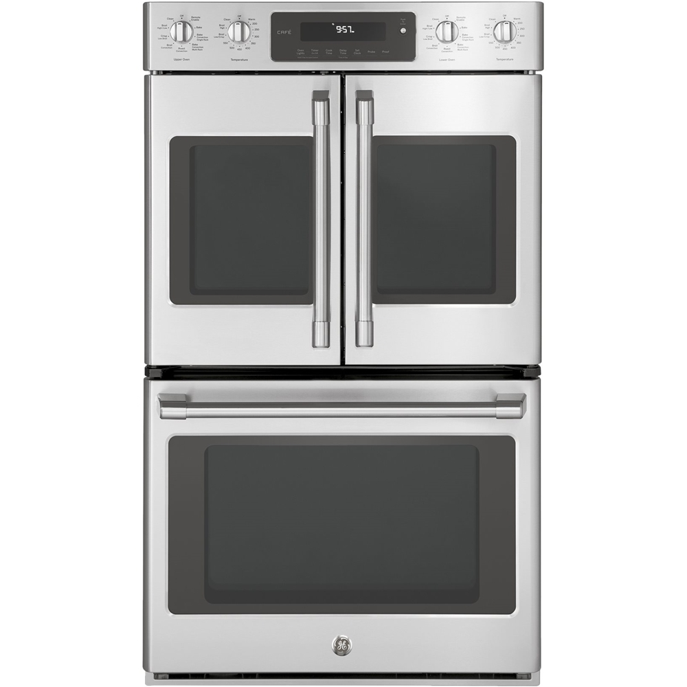 "GE CT9570SLSS Caf Series 29.8"" Built-In Double Electric Convection Wall Oven Stainless steel"