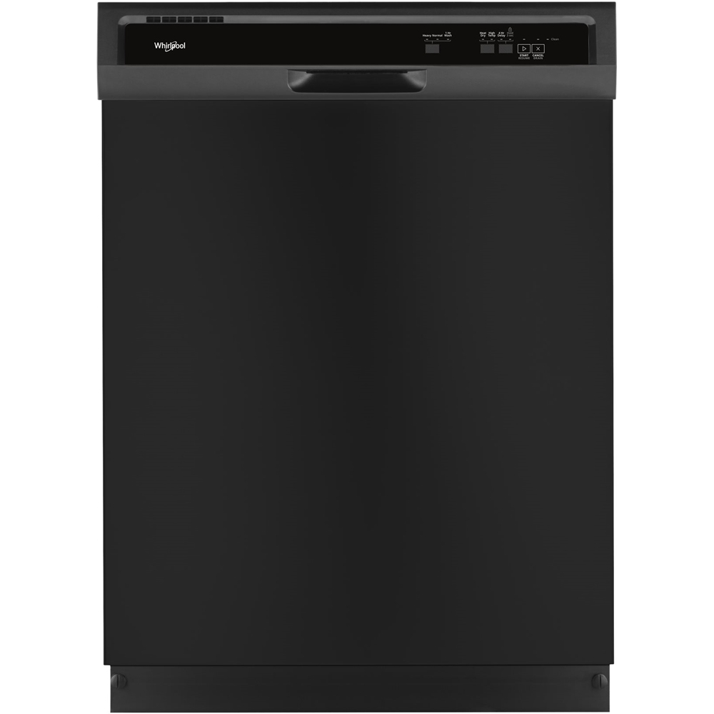 "Whirlpool 24"" Tall Tub Built-In Dishwasher Black WDF331PAHB"