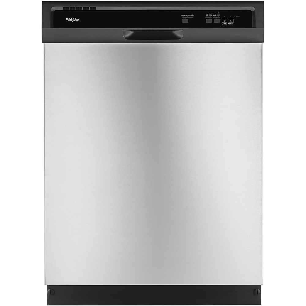 "Whirlpool 24"" Tall Tub Built-In Dishwasher Stainless steel WDF331PAHS"