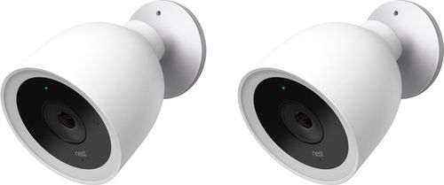 Nest - Cam IQ Outdoor Security Camera- 2 Pack - White