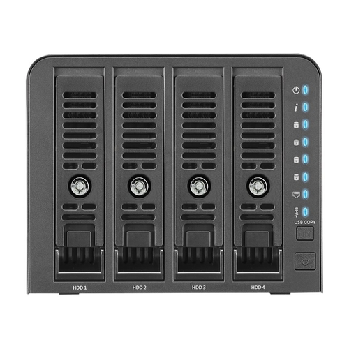 Thecus - Technology N4350 4-Bay External Network Storage (NAS) - Black 1GB DDR4Data transfer rates up to 5 Gbps with USB 3.02x USB 3.0Gigabit Ethernet4-Bay NASCompatible with Apple® Time MachineMultiple RAID options
