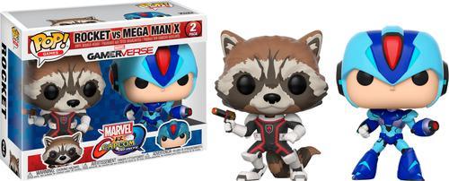 Funko - Pop! Games Marvel vs. Capcom: Rocket vs. Mega Man X (2-pack) 6121432
