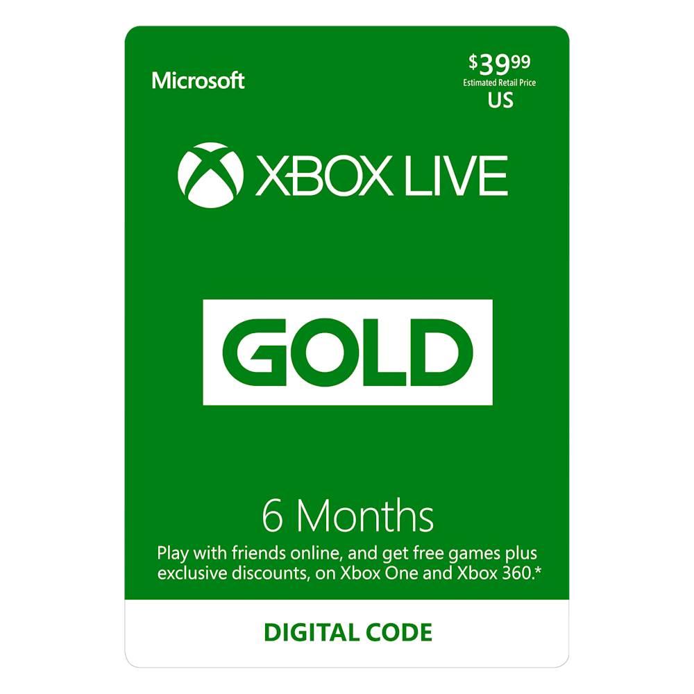 Microsoft Xbox Live 6 Month Gold Membership Digital [Digital] DIGITAL ITEM
