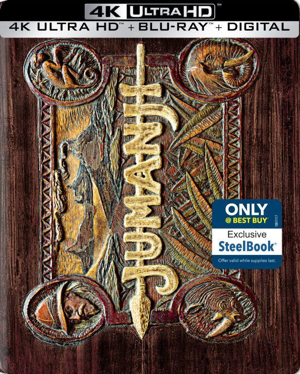 Jumanji [Includes Digital Copy] [SteelBook] [4K Ultra HD Blu-ray/Blu-ray] [Only @ Best Buy] [1995] 6123403
