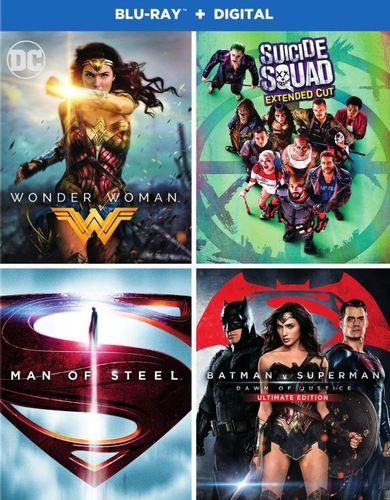 Wonder Woman/Suicide Squad/Superman: Man of Steel/Batman v. Superman: Dawn of Justice [Blu-ray] 6123630