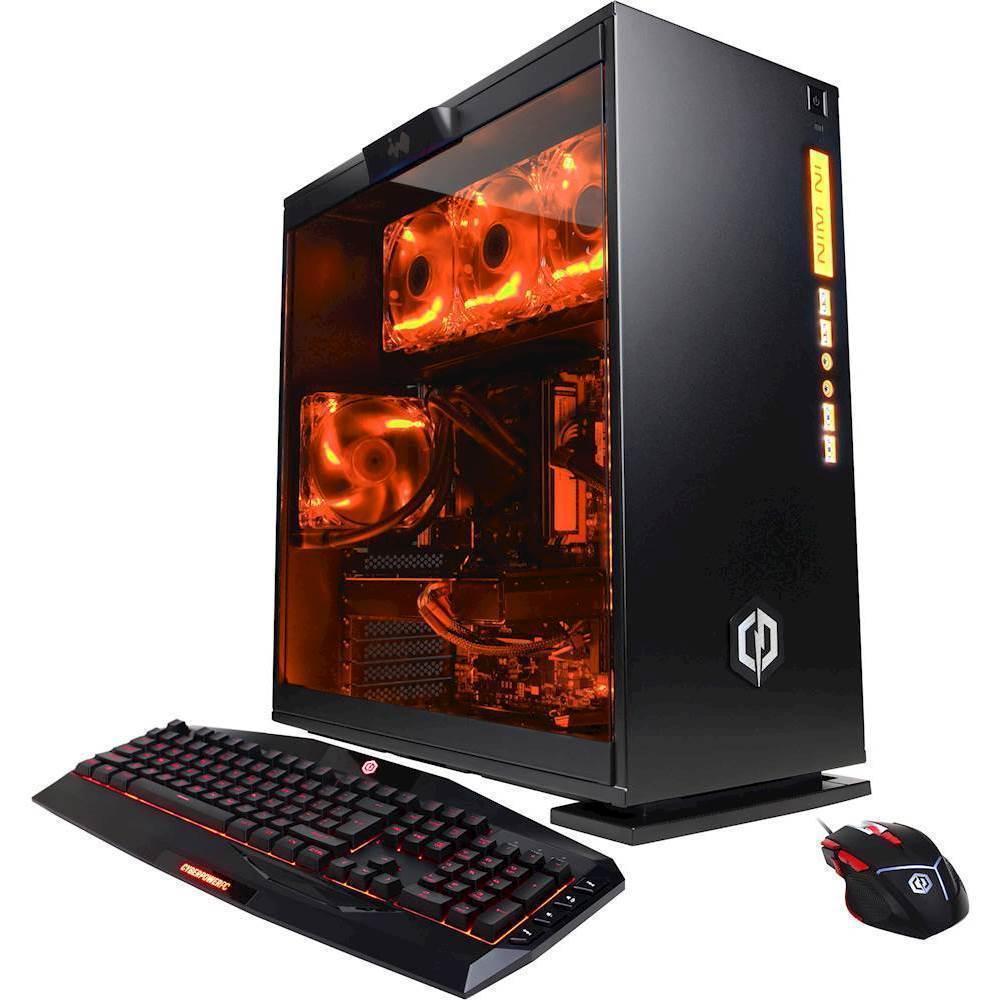 CyberPowerPC Gamer Supreme Desktop Intel Core i7 32GB Memory AMD Radeon RX 580 3TB Hard Drive SLC8802OPT