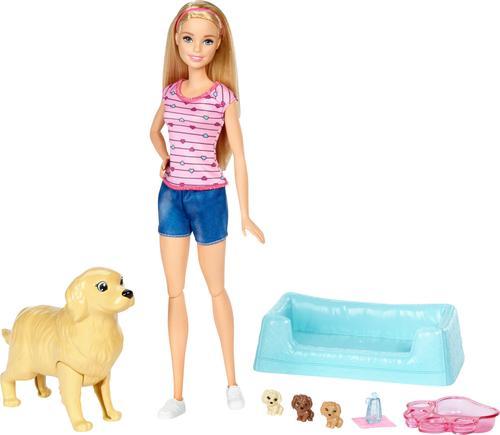 Barbie - Newborn Pups Doll & Pets