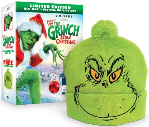 Dr. Seuss' How the Grinch Stole Christmas [Blu-ray] [Grinch Beanie] [Only @ Best Buy] [2000] 6130305