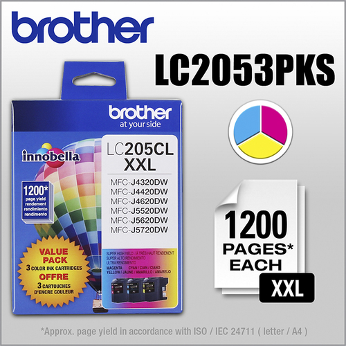 Brother - LC205CL XL...