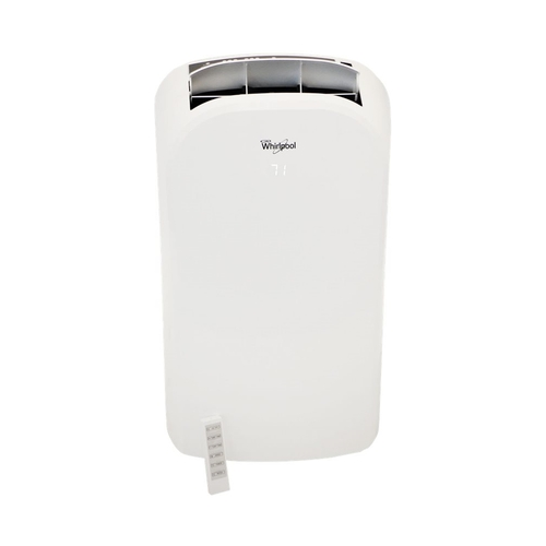 Whirlpool - 450 Sq. Ft. Portable Air Conditioner - White 450 sq. ft. cooling capacityRemote Control9.5 ampsDrain hose connection