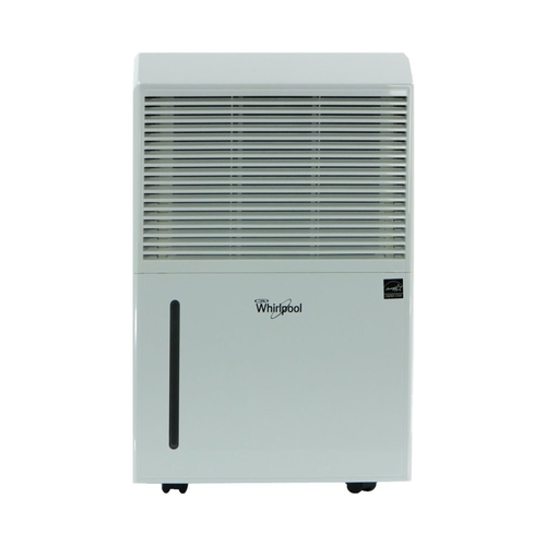 Whirlpool - Whirlpool - 70-Pint Portable Dehumidifier - White - White Designed for rooms up to 2000 sq.ft.Includes drain hose connectionEnergy Star Certified7.5 ampsBucket full indicator light; auto shut-off; frost protectionAdjustable humidistat