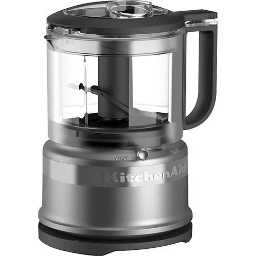 KitchenAid - 3.5-Cup Mini Food Processor - Contour Silver 6133607