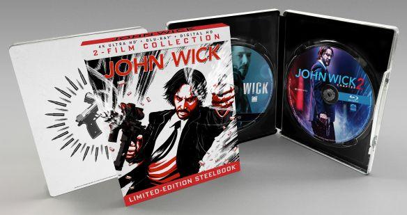 John Wick/John Wick: Chapter 2 [SteelBook] [4K Ultra HD Blu-ray/Blu-ray] [Only @ Best Buy] 6134348