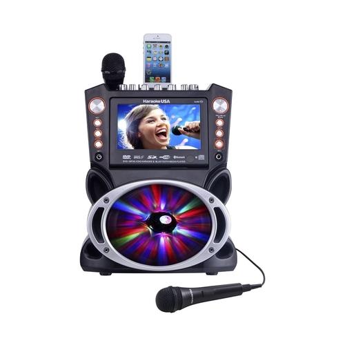 Karaoke USA - DVD Karaoke System - Silver/black