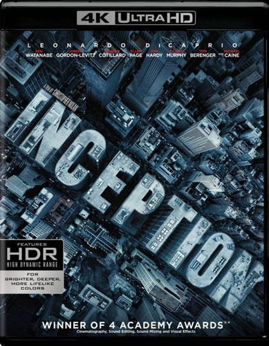 Inception [4K Ultra HD Blu-ray] [2010] 6138130