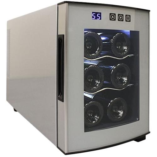 Vinotemp VT-6ECOSS-01 Series 6-Bottle Wine Cooler Silver