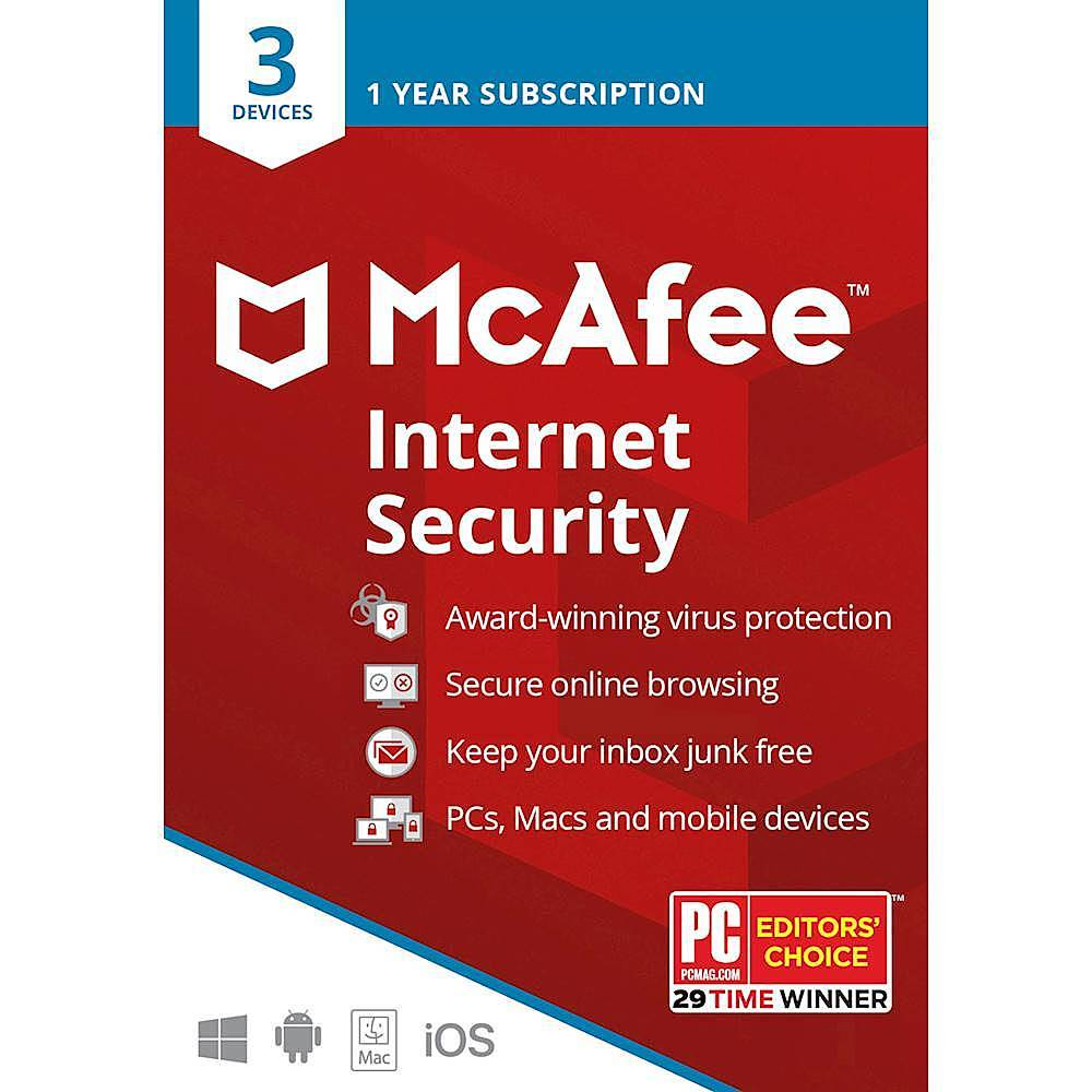 McAfee Internet Security (3 Devices) (1-Year Subscription) Android|Mac|Windows|iOS MCA950800F004