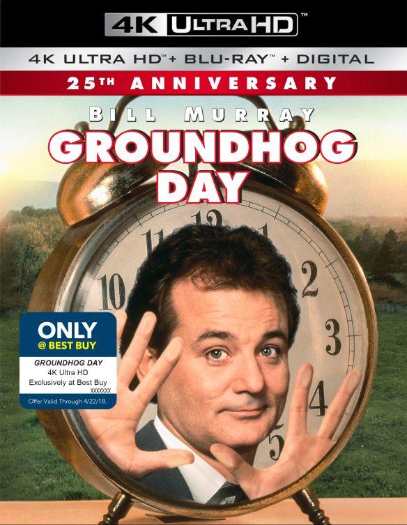 Groundhog Day [Includes Digital Copy] [4K Ultra HD Blu-ray/Blu-ray] [Only @ Best Buy] [1993] 6145007