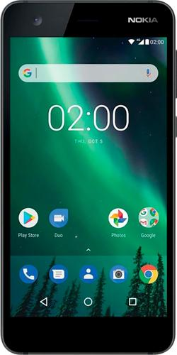 Nokia - 2 4G LTE with 8GB Memory Cell Phone (Unlocked) - Black