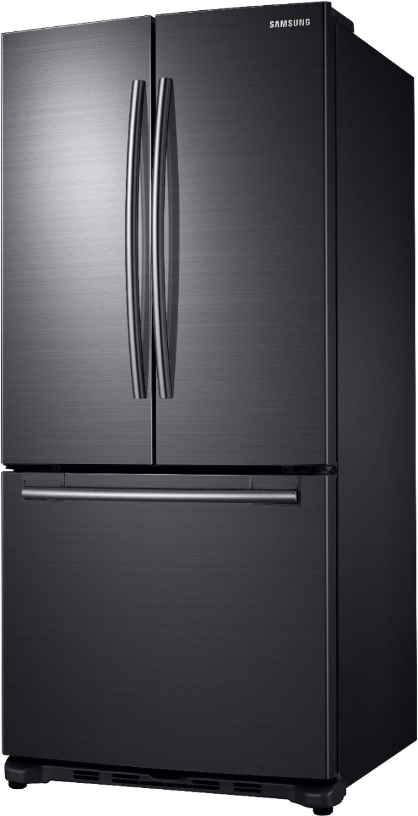 Samsung   20 Cu.Ft. French Door Counter Depth Refrigerator   Fingerprint  Resistant Black Stainless Steel