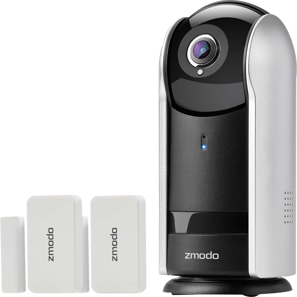 Zmodo Pan and Tilt Indoor Wi-Fi Network Surveillance Camera Black/silver SD-H2303