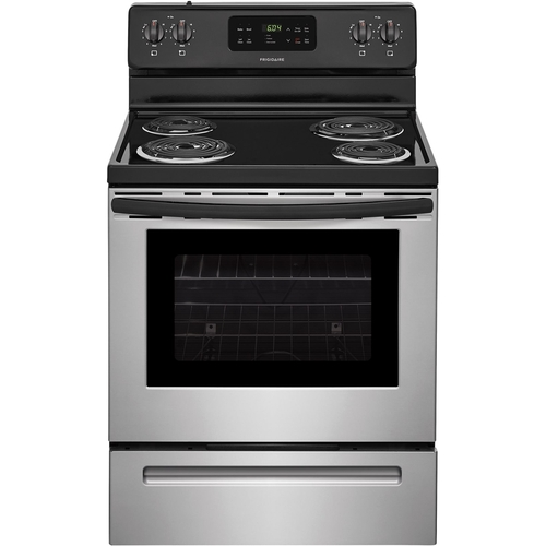 Frigidaire - 5.3 Cu. Ft. Self-Cleaning Freestanding Electric Range - Silver